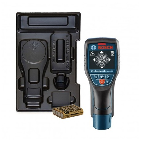 BOSCH D-TECT 120 WALL SCANNER INC 4X AA BATTERIES IN CARTON WITH L-BOXX 1/2 INLAY