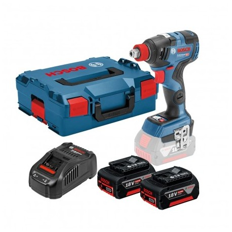 BOSCH GDX 18 V-200 C IMPACT WRENCH/DRIVER INC 2X 5.0AH BATTS & CHARGER IN L-BOXX