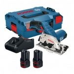 BOSCH GKS 12V-26 CORDLESS CIRCULAR SAW INC 2X 2.0AH BATTS