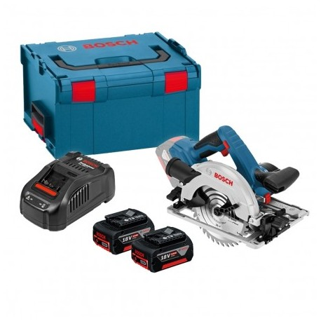 BOSCH GKS 18 V-57 G 165MM CIRCULAR SAW INC 2X 5.0AH BATTS