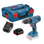 BOSCH GSB 18 V-21 COMBI DRILL INC 1X 5.0AH BATT IN L-BOXX CARRY CASE