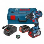 BOSCH GSR 18 V-60 C BRUSHLESS DRILL DRIVER INC GCY 30-4 MODULE & 2X 5.0AH BATTS