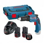 BOSCH GTB 12V-11 CORDLESS BRUSHLESS DRYWALL SCREWDRIVER INC 2X 2.5AH BATTS