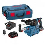 BOSCH GBH 18 V-26 F SDS+ PLUS QCC BRUSHLESS ROTARY HAMMER + GDE 18 V-16 INC 2X 6.0AH BATTS