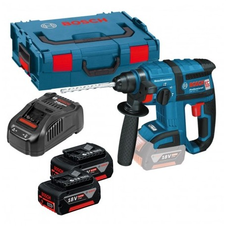 BOSCH GBH 18 V-EC BRUSHLESS SDS+ ROTARY HAMMER INC 2X 5AH BATTS
