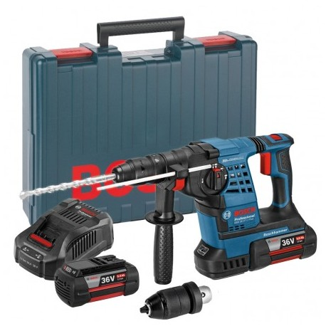 BOSCH GBH 36 VF-LI PLUS 36V SDS+ ROTARY HAMMER INC 2X 6AH BATTS & QCC