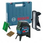 BOSCH GCL 2-15 G GREEN BEAM CROSS LINE LASER INC BM3 & RM1 WALL MOUNT IN CARRY CASE