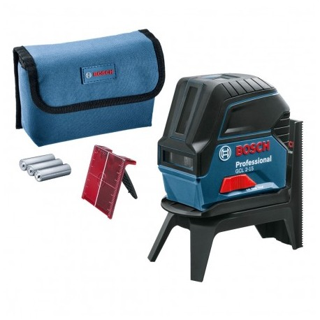 BOSCH GCL 2-15 SELF-LEVELLING CROSS LINE LASER WITH RM1 WALL MOUNT