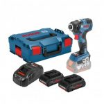 BOSCH GDR 18 V-200 C IMPACT DRIVER 2X PROCORE 4.0AH BATTS & CHARGER IN L-BOXX