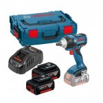 BOSCH GDS 18 V-EC 250 18V HIGH TORQUE IMPACT WRENCH INC 2X 5AH BATTS