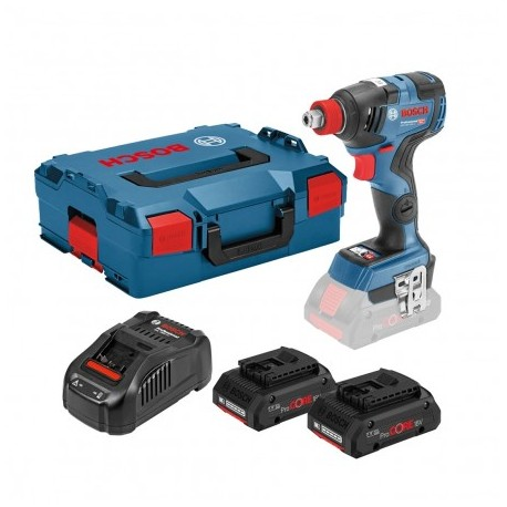 BOSCH GDX 18 V-200 C IMPACT WRENCH/DRIVER INC 2X PROCORE 4.0AH BATTS