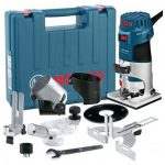 BOSCH GKF 600 14 PALM ROUTERLAMINATE TRIMMER KIT INC EXTRA BASES