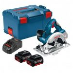 BOSCH GKS 18 V-LI CIRCULAR SAW INC 2X 5.0AH BATTS IN L-BOXX CARRY CASE