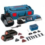BOSCH GOP 18 V-28 STARLOCK PLUS CORDLESS BRUSHLESS MULTICUTTER INC 2X 2.0AH BATTS & 16 ACCS