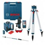 BOSCH GRL 300 HV ROTATION LASER INC LR1, MOUNT, REMOTE, ROD & TRIPOD
