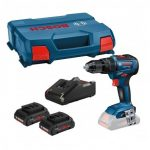 BOSCH GSB 18 V-55 BRUSHLESS COMBI DRILL INC 2X 4.0AH PROCORE BATTS
