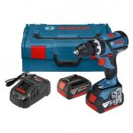 BOSCH GSB 18 V-60 C BRUSHLESS COMBI DRILL INC 2X 5.0AH BATTERIES