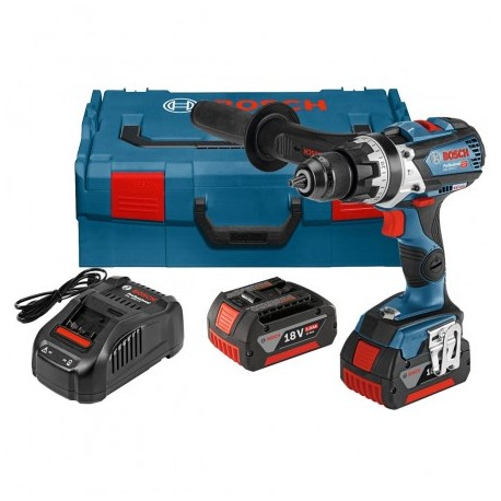 BOSCH GSB 18 V-85 C BRUSHLESS COMBI DRILL INC 2X 5.0AH BATTS