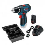 BOSCH GSR 10.8-2-LI (12V-15) DRILL DRIVER INC 1X 2.0AH BATTERY