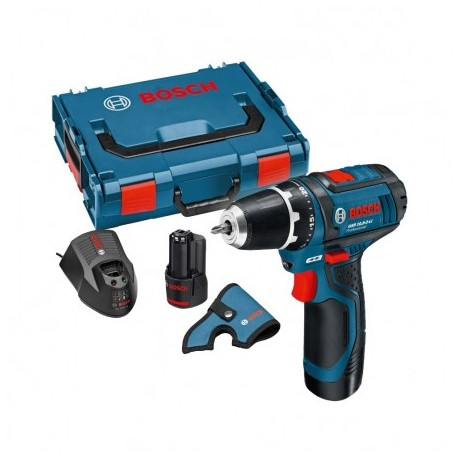 BOSCH GSR 10.8-2-LI (12V-15) DRILL DRIVER INC 2X 2.0AH BATTS IN L-BOXX