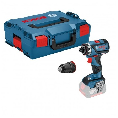BOSCH GSR 18 V-60 FCC FLEXICLICK DRILL DRIVER BODY ONLY IN L-BOXX INC 1X CHUCK
