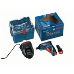 BOSCH GSR MX2DRIVE 3.6V PROFESSIONAL SCREWDRIVER INC 2X 1.3AH BATTERIES IN CARRY CASE