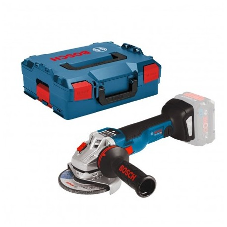 "BOSCH GWS 18 V-10 SC 125MM/5"" ANGLE GRINDER BODY ONLY IN L-BOXX"