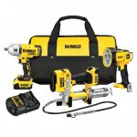 DEWALT DCK397HM2 20-VOLT 3-TOOL GREASE GUN AND IMPACT DRIVER COMBO KIT