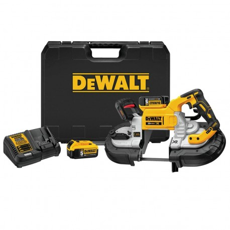 DEWALT DCS376P2 20-VOLT 5-INCH X 4-3/4-INCH 5.0AH DUAL SWITCH BAND SAW KIT