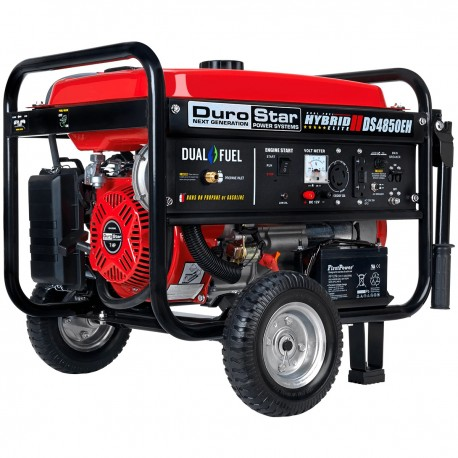 DUROSTAR DS4850EH 4,850-WATT DUAL FUEL HYBRID GENERATOR W/ ELECTRIC START
