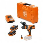 FEIN ASCM 18 QXC BRUSHLESS 4-SPEED DRILL DRIVER INC QCC & 2X 2.5AH BATTS
