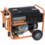GENERAC GP5500 389CC 5,550-WATT 120/240-VOLT RECOIL START PORTABLE GENERATOR - 5945