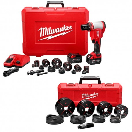 "MILWAUKEE 2676-23 M18 18V 10 TON KNOCKOUT TOOL 1/2"" TO 4"" W/ BATTERIES"