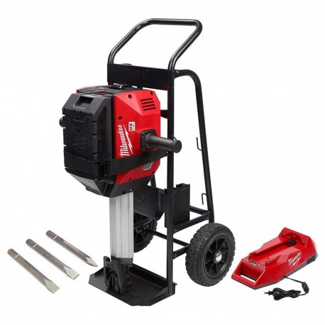 MILWAUKEE MXF368-1XC MX FUEL BREAKER WITH CHISELS CART BATTERY PACK AND CHARGER