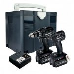 PANASONIC EYC215LJ2G31 14.4V/18V DRILL DRIVER / IMPACT DRIVER TWIN KIT INC 2X 5.0AH BATTS