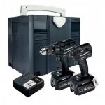 PANASONIC EYC225LJ2G31 14.4V/18V COMBI DRILL / IMPACT DRIVER TWIN KIT INC 2X 5.0AH BATTS