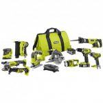 RYOBI 18-Volt ONE+ Lithium-Ion Cordless 10-Tool Combo Kit with (1) 4.0 Ah Battery, (1) 1.5 Ah Battery, 18-Volt Charger and Bag
