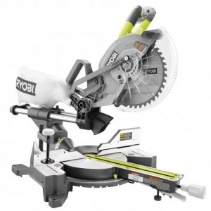 RYOBI 18-Volt ONE+ONE Cordless Brushless 10 in. Dual Bevel Sliding Miter Saw (Tool Only)