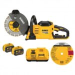 DEWALT DCS690X2 60 VOLT 9 INCH CORDLESS BRUSHLESS CUT OFF SAW KIT