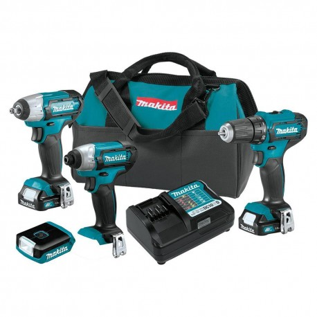 MAKITA CT411 12 VOLT 1.5AH 4-TOOL CORDLESS DRILL AND DRIVER COMBO KIT