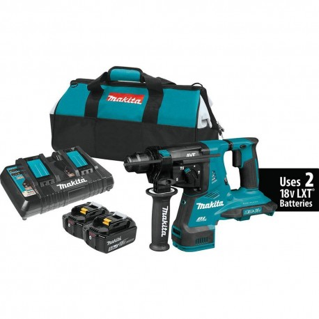 MAKITA XRH08PT 36 VOLT 1-1/8 INCH SDS-PLUS X2 LXT BRUSHLESS ROTARY HAMMER KIT