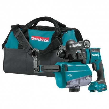 MAKITA XRH12ZW 18 VOLT 11/16 INCH SDS-PLUS DUST FILTER ROTARY HAMMER, BARE TOOL