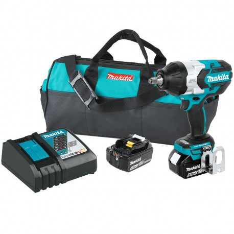 MAKITA XWT08T 18-VOLT 1/2-INCH 5.0AH LITHIUM-ION CORDLESS IMPACT WRENCH KIT
