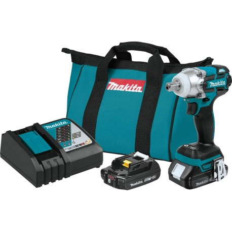 MAKITA XWT11R 18-VOLT 1/2-INCH BRUSHLESS CORDLESS LITHIUM-ION IMPACT WRENCH KIT