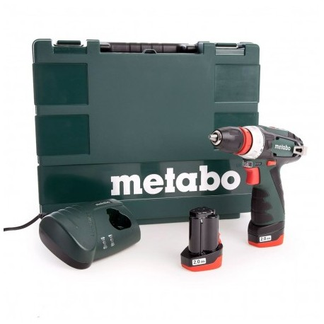 METABO BS 10.8V POWERMAXX BS QUICK DRILL DRIVER KIT INC 2X 2.0AH BATTS