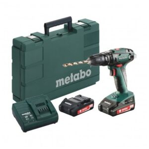 METABO SB 18 2-SPEED 18V COMBI DRILL INC 2X 2.0AH BATTS IN CARRY CASE