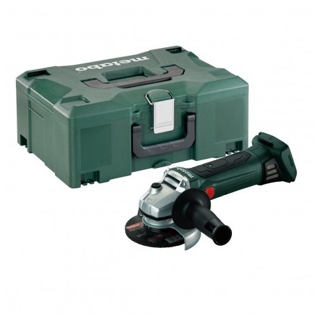 METABO W 18 LTX CORDLESS ANGLE GRINDER 115MM BODY ONLY IN METALOC CASE