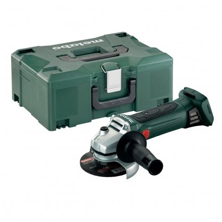 METABO W 18 LTX CORDLESS ANGLE GRINDER 125MM BODY ONLY IN METALOC CASE