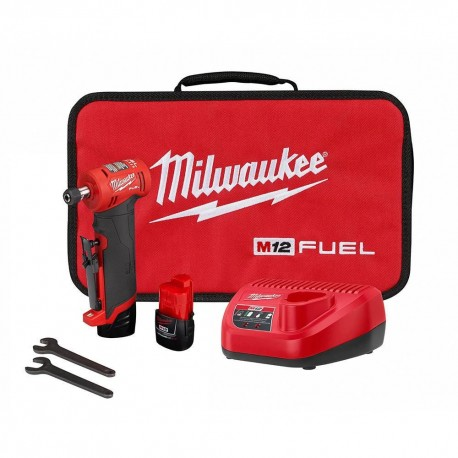 MILWAUKEE 2485-22 M12 FUEL 1/4 INCH RIGHT ANGLE DIE GRINDER 2 BATTERY KIT