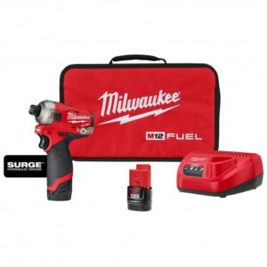 MILWAUKEE 2551-22 M12 FUEL SURGE 1/4 INCH HEX HYDRAULIC DRIVER 2 BATTERY KIT